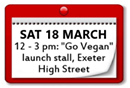 """Go Vegan"" Launch Stall"