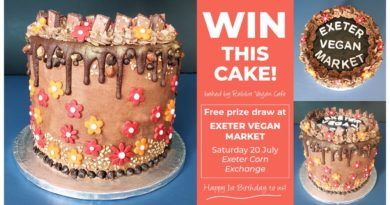 Exeter Vegan Market - Win This Cake!